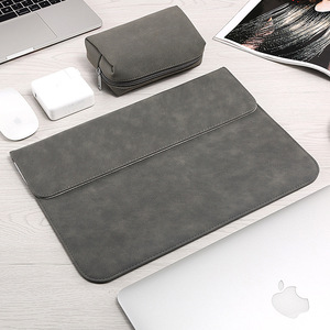 Image 2 - Matte Laptop Sleeve Bag For Macbook Air 13 A1932 11 12 15.4 New Pro 15 Touch Bar Notebook Case For Xiaomi 13.3 15.6 Scrub Cover