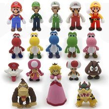 6-13cm Super Mario Figure Toy Anime Mario Odyssey Yoshi Luigi Bowser Mushroom PVC Action Figure Doll Toys Collectible Model Toy sex anime character 1pcs 1 6 scale painted bible black rika shiraki action pvc figure model toy tall 13cm for collection