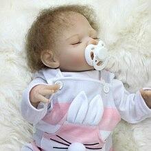 Lifelike Silicone Reborn Baby Menina Kids Playmates Bedtime House Toy 18 Inch Dolls Bebe Reborn Menino SDK-81R2 Toys for Girls
