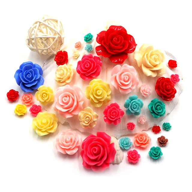 6mm Nail Flower Design Mix Color Rose Flowers 3d Nail Art Charm
