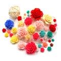 6mm Nailart Prego 3D Encantos Rose Flores Suprimentos de Unhas de Acrílico Acessórios 3D Nail Art Flores Decorações para Unhas ZJ1098