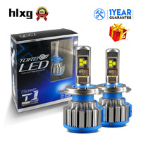 HLXG T1 Turbo Car Headlight H4 LED Bulbs High Low Beam 70W 7000LM 6000K Auto Canbus