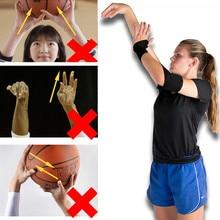 Basketball Shooting Shotloc Auxiliary Training Hand Posture Correction Orthotics Equipment Wristband Thumb Support Straps Wraps newly 2 finger silicone shot lock basketball training posture correction device ball shooting trainer sd669