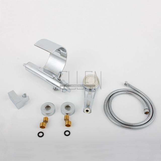 Luxusní sprchová baterie na stěnu s moderním LED podsvětlením