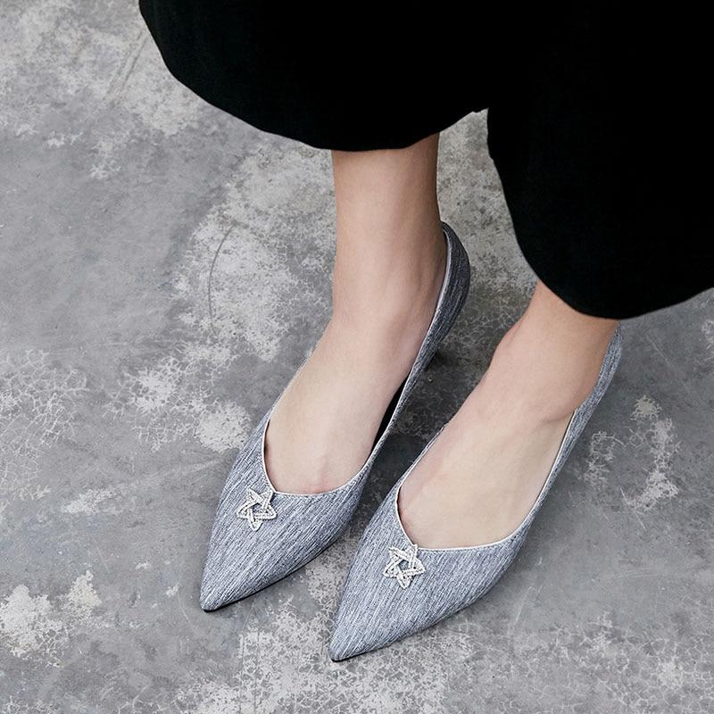 Auf Heels Grey pink Größe Dünne Damen Weibliche Sommer Große Sexy Nette Slip Flach Leinwand Schuhe High Frau Pumpen Frauen Frühling Pentagramm nqHYwRvH