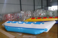 Funny water sports inflatable banana boat ride for 6 persons