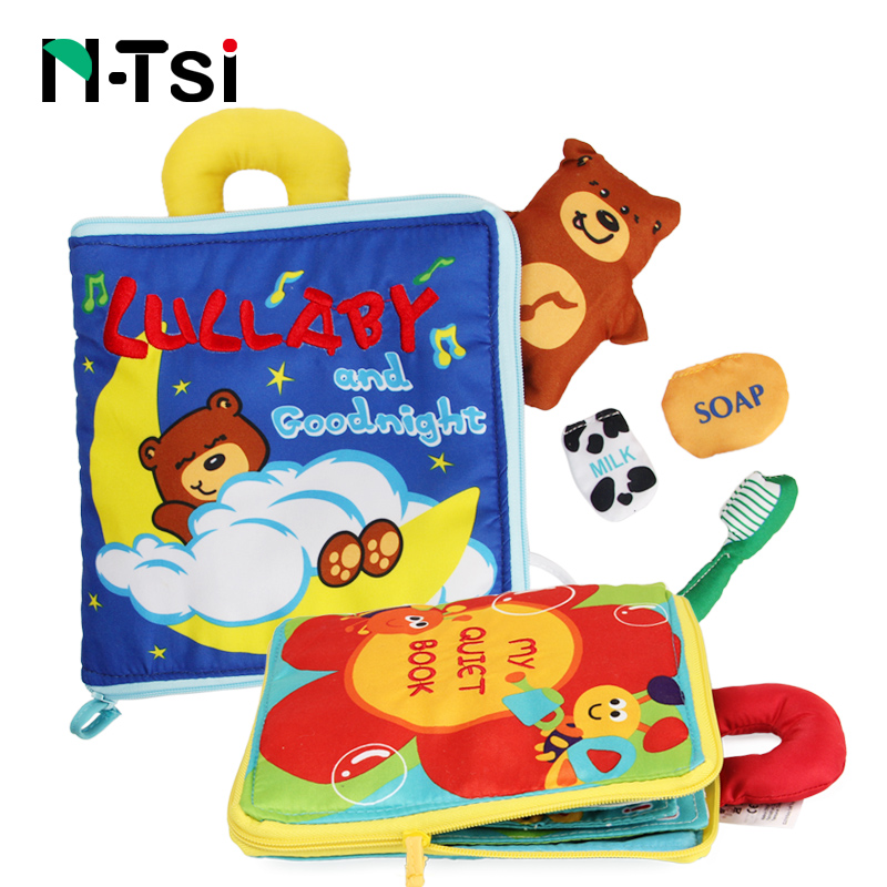 Portable Baby Picture Soft Cloth Activity Books Early Educational Toys For Children Infant 0-12 Months Newborn Gift 12 Pages