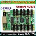 Cartão LINSN rv908 P10 Display LED Recebe O Cartão do sistema de controle, exterior, Interior, Semi-ao ar livre Full-color cartão de recebimento