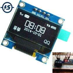 Pour Arduino OLED Module d'affichage 0.96 pouces IIC série blanc 128X64 I2C SSD1306 LCD écran panneau GND VCC SCL SDA 0.96 Oled I2C