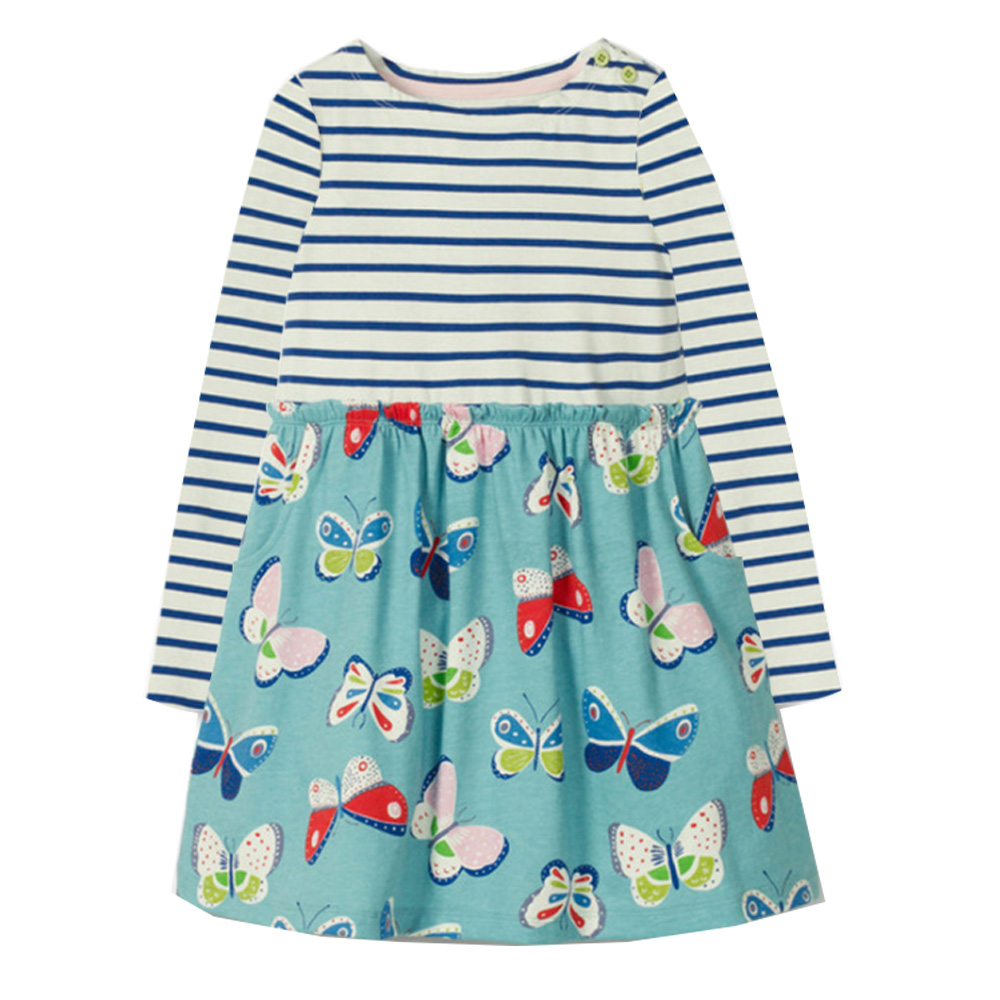 Girl Dress with Animal Applique Baby Girls Clothes Cotton Tunic Jersey Kids Dresses for Girls Costume Children Princess Dress baby dress animal applique christmas clothes long sleeve girls dresses princess costume for kids cotton dress children vestidos