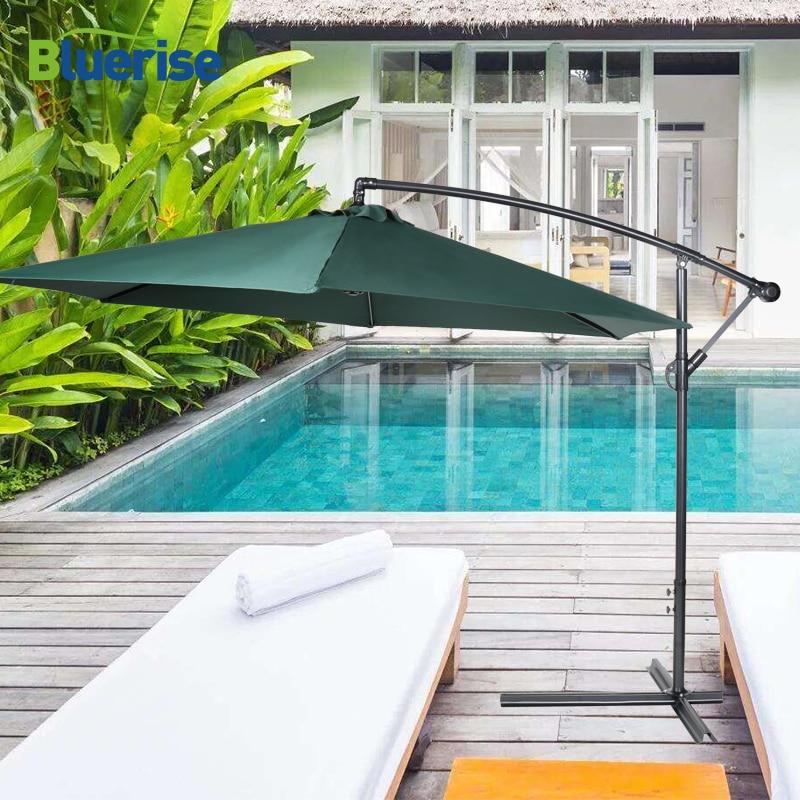BLUERISE Modern Outdoor Umbrella Garden Patio Sunshade 6 Bones Folding Advertising Beach Garden Tent Umbrella Villa garden