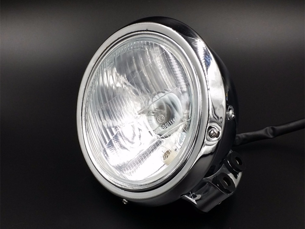 Chrome Headlight Head Lamp for Honda REBEL MAGNA CA CMX 250 750 STEED 400 600 for honda steed 400 600 vt600 shadow 400 750 magna 250 750 motorcycle front brake clutch left 1 25mm chrome