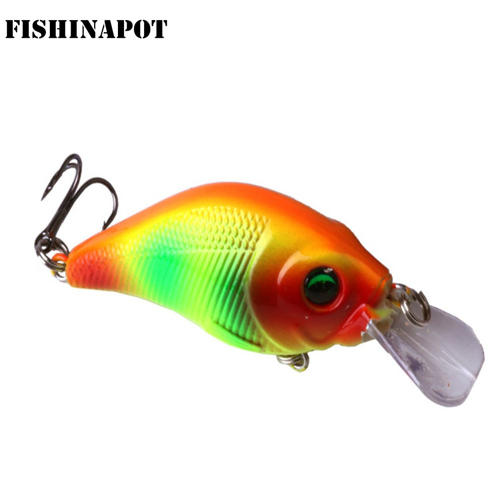 FISHINAPOT Crank Fishing Lure 7.5cm/11g Crankbait Hard Bait Artificial Wobblers Bass Pike Japan Top water Fishing Accessories|Fishing Lures| - AliExpress