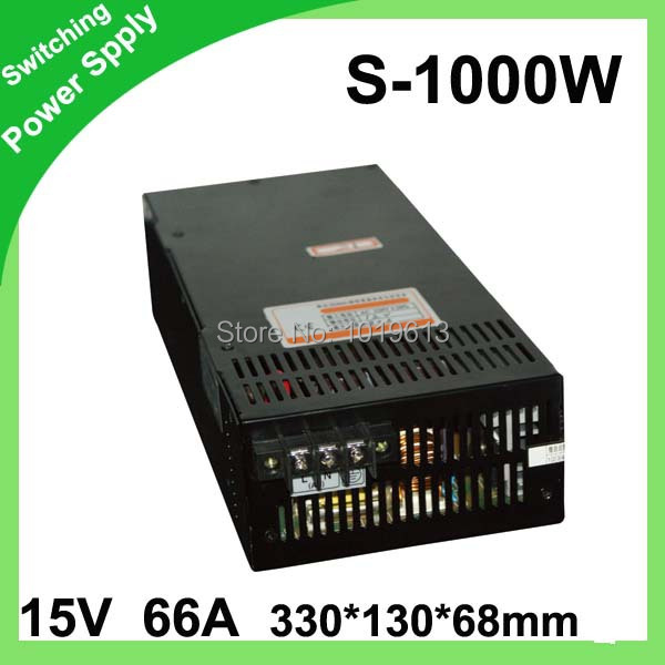 15V 66A 1000W Switching power supply Driver For LED Light Strip Display Factory Supplier
