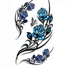 3D Sex Henna Tattoo Paste Rose Temporary Tattoo Stickers Body Art Sticker Beauty Waterproof Elegant Temporary Tattoos
