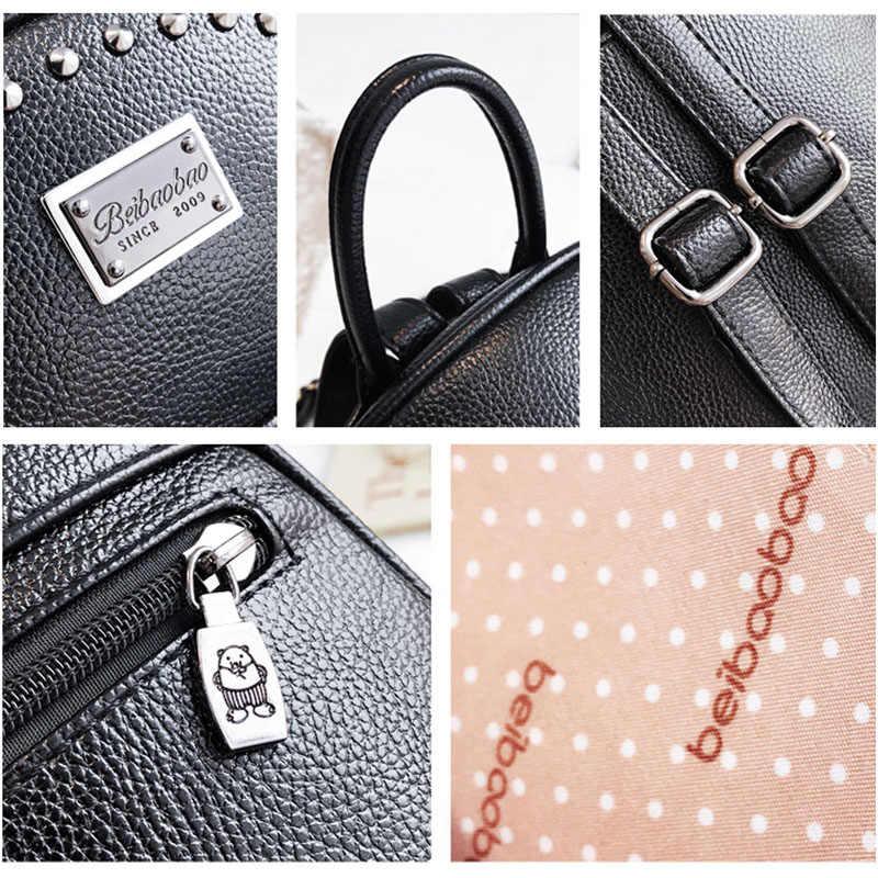 ... Beibaobao 2019 женские Fanshion Рюкзаки Высокое качество школьные сумки  для девочек рабочие женские Сумки из искусственной ... 30f7ecafd70