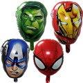 Воздушные шары фольги Мстители super hero baby игрушки халк Капитан Америка супермен batman Железный человек человек-паук гелием воздушный шар