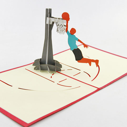 Basketball Pop Up Card, Basketball Birthday Card, Basketball Bday Card, Sports music card spiral pop up musical notes 3d card music instruments pop up card bday pop up card