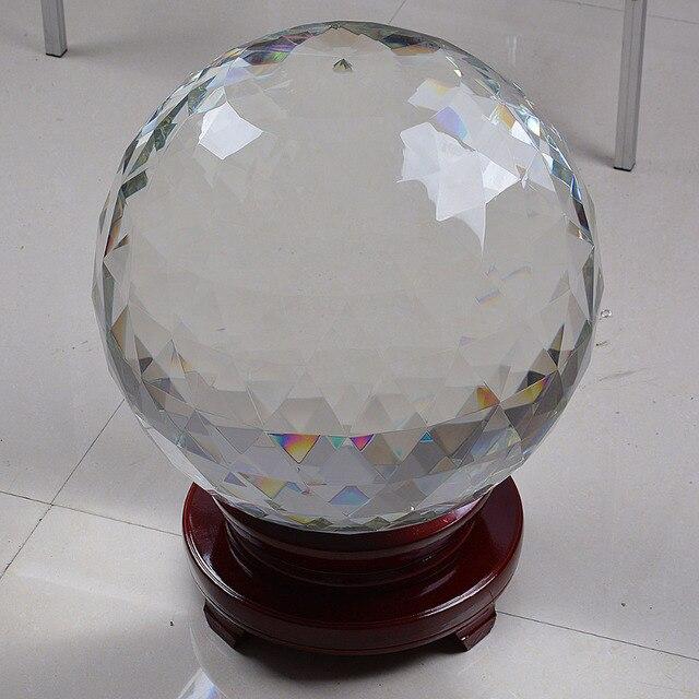 89f398538f9 Stock Em Armazém China Enorme Esfera de Quartzo Bola De Cristal Facetado  320mm Tabela Decorações Peça