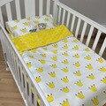 Ребенок новорожденный кровать кроватки 3 шт./лот подшивок детей постельных принадлежностей девушок мальчика детский 100% хлопок подушка чехол + лист + без заполнения