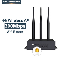 Outdoor Waterproof 300Mbps Wireless AP Access Point Wifi Router Plug and Play 4G SIM Card Portable WiFi Wireless Router COMFAST