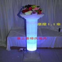 Lighted Roman column plastic roman pillar for wedding 4pcs/lot