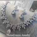 Роскошные Маркиза Форма Синтетических Алмазов, Кубического Циркония Большой Капли Воды Африканский Свадьба Ювелирные Наборы Для Невест JS138