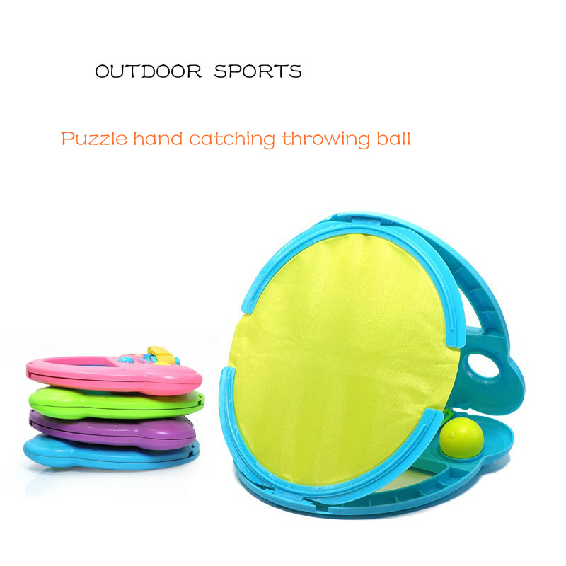 1PCS Outdoor Toys Hand Throw Catch Ball Game Hold Ball Rackets Sports Parent-child Interactive Toy Birthday Gifts For Children