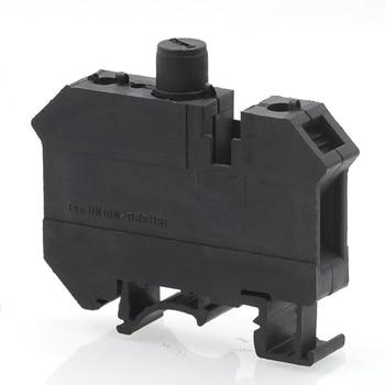5/10 قطعة Din السكك الحديدية قامطة بلولب علبة فيوزات كتلة UK10-DREHSI Morsettiera سلك كابلات الموصلات الكهربائية Bornier مقعد 800 فولت 6.3A
