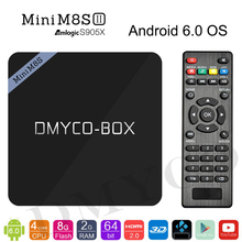 Mini M8S II Android tv box Amlogic S905X Quad Core Android 6.0 2GB/8GB WiFi 4K Fully Loaded Kdoi 16.1 Set Top box Smart TV BOX