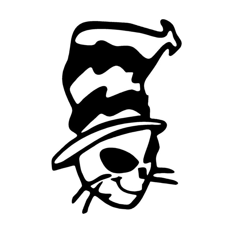 10.2*15.2CM Cat Jester Hat Joker Sticker Vinyl Decal Car Styling Bumper Truck Decorative Black/Silver