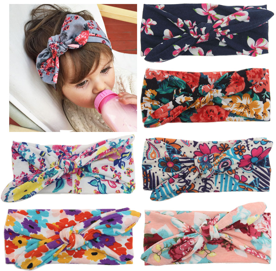 Baby Girls Cotton Knot Headband Head Wraps Floral Headband Printing Headband Turban Newborn Infants Photo Prop Hair Accessories 1 piece waste ink tank chip resetter for epson 7700 9700 7710 9710 printer maintenance box tank