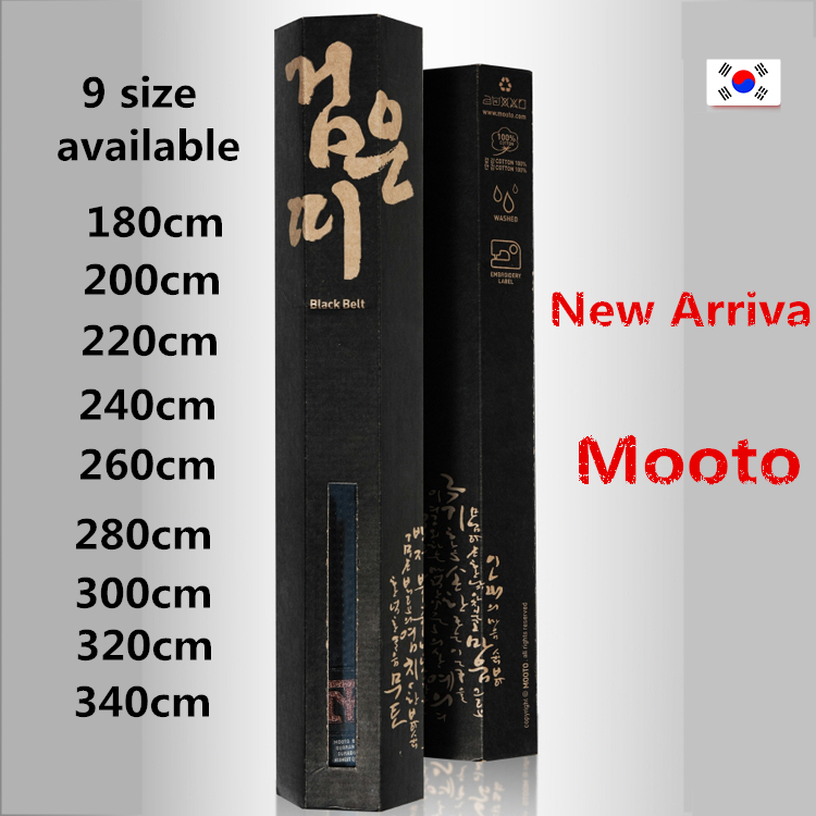 Brand quality MOOTO taekwondo black Belt pure cotton box package TKD black belt for children adult 280cm 300cm 320cm 340cmx5cmBrand quality MOOTO taekwondo black Belt pure cotton box package TKD black belt for children adult 280cm 300cm 320cm 340cmx5cm