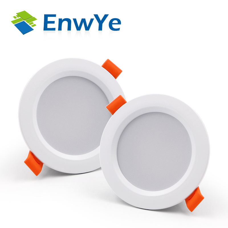 EnwYe LED Plastic Downlight 3W Warm White/Cold White Led Light AC 220V 230V 240V LED Ceiling Downlight New Style