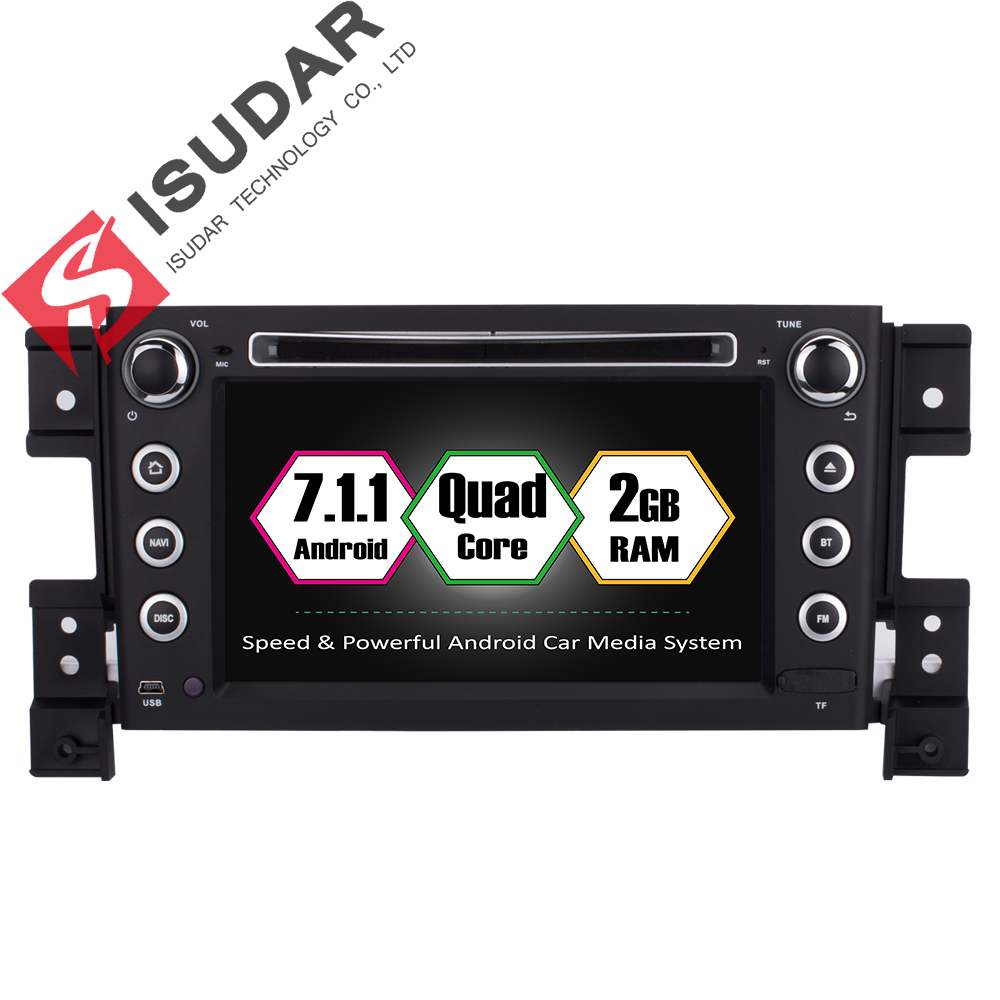 Isudar Car Multimedia Player Car Radio GPS 2 Din Android 7.1.1 For SUZUKI/Grand vitara 2005 Radio FM Wifi OBD2 USB DVR DAB
