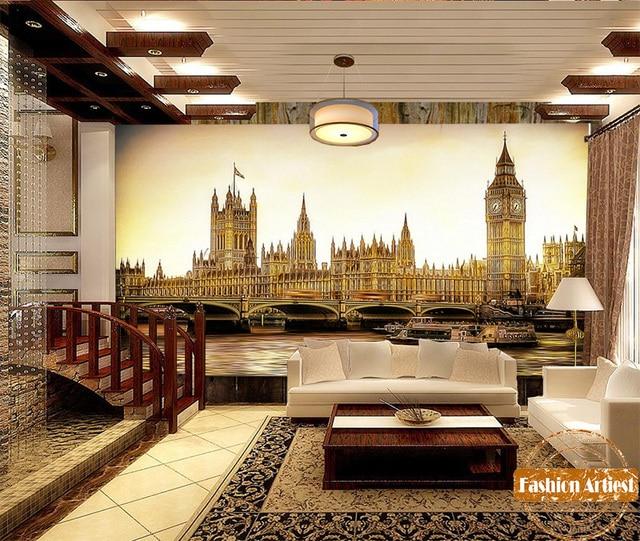 Custom wallpaper mural UK London Bridge Big Ben clock tower of