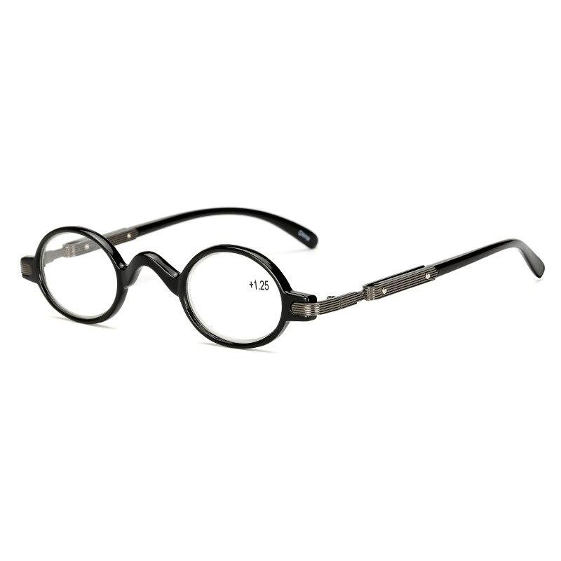 2018 Mode Kleine Runde Rahmen Männer Frauen Schwarz Leser Lesebrille Vintage Presbyopie Brille + 1,00 + 1,50 + 2,00 + 2,50 + 3,00 Ein Unverzichtbares SouveräNes Heilmittel FüR Zuhause