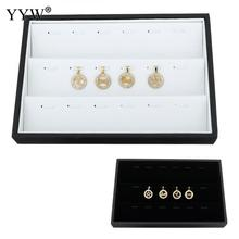 YYW New Wholesale 5pcs/lot Velvet Pendant Display Cardboard Jewelry Show Case