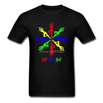 Buddyzm Yoging T Shirt z krótkim rękawem marka własna odzież letnia grupa 3XL O-neck bawełniane koszule męskie