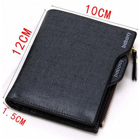 2019 Men Wallet High Quality PU Leather Card Holder Wallet Male Leather Coin Purse With Zipper Short Bifold Wallets for men NEW Karachi