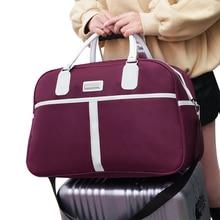 Oxford Waterproof Women Travel Bags Handbag Large Capacity Duffle Bag Shoulder For 14T