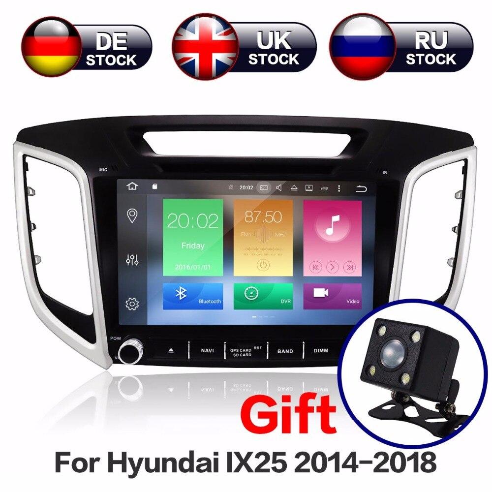 9 pouces 8 Core Android 8.1 4 + 32 GB Voiture Lecteur DVD GPS Navigation Pour Hyundai Creta ix25 Voiture radio 2014-2018 Carte Gratuite Et Caméra