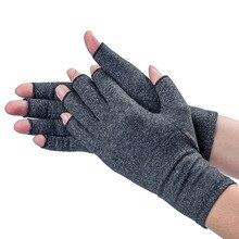 1 двойные компрессионные перчатки унисекс для мужчин и женщин, перчатки для артрита боли в суставах, облегчающие уход за здоровьем, перчатки на полпальца