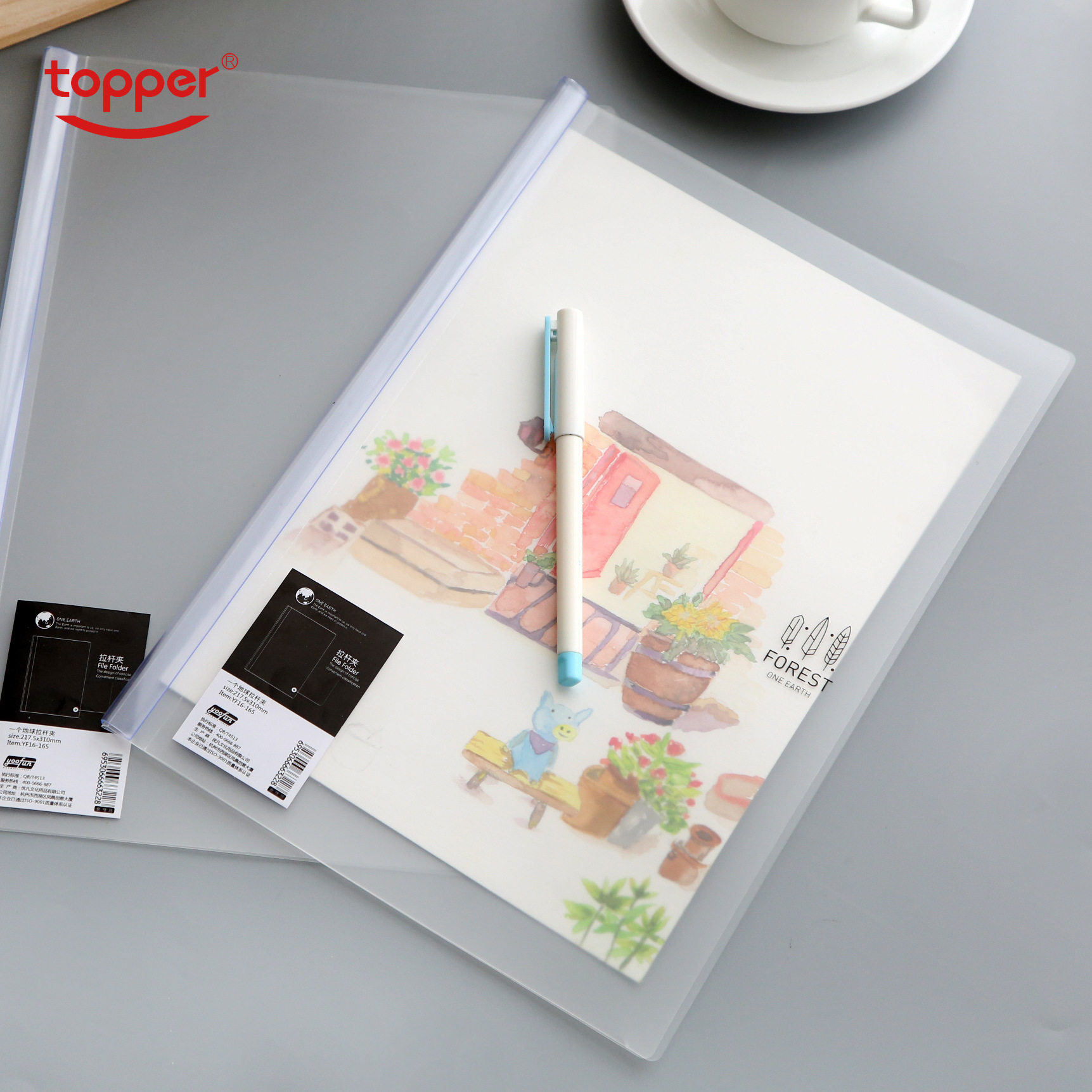 4pc/lot Report Cover Creative Transparent Folder Filing Product Office Supplies Stationery Business Documents Storage