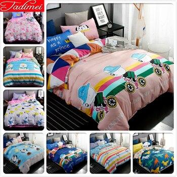 Panda Pattern Creative Quilt Comforter Duvet Cover 3/4 pcs Bedding Set Kid Child Boy Soft Cotton Bed Linen Single Twin Full Size