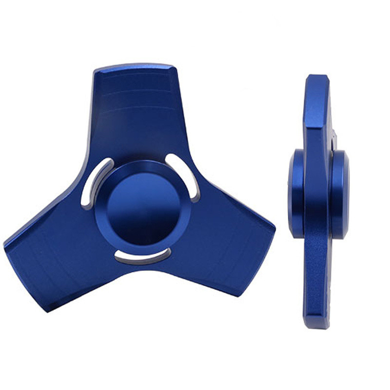 5 Colors EDC Fidget Spinner UFO Tri Spinner Zinc Hand Spinner Aluminum Alloy Fidget Toy Anxiety
