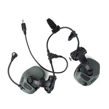 TMC RC морские тактические коммуникативные слуховые защитные наушники с шумоподавлением, подходят для системы ARC Rail (SKU051230)