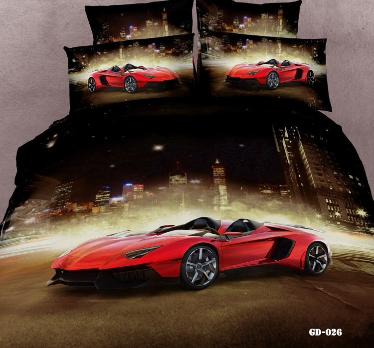 Online get cheap race car bed alibaba group for Housse couette cars