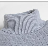 Men Sweater 2018 Autumn Thick Warm Sweaters Brand Knitted Pullover Simple Turtleneck Sweater Solid Color Man Jumpers Pull Homme