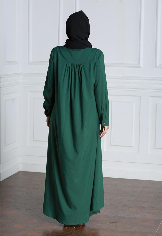 Muslim Dress Women Long Sleeve Embroidery Patchwork Abaya Loose Pakistan Free Plus Size Ethnic Arab Robe Islamic Clothing (2)